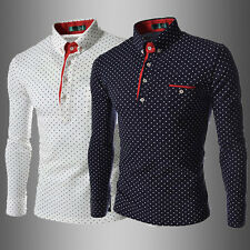 NEW HOT FASHION Men's Slim Fit Long Sleeve T-shirt POLO Shirt 4 Size M L XL XXL