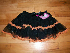 New Hello Kitty toddler girls ruffle skirt Halloween blk 3t 4t 5t