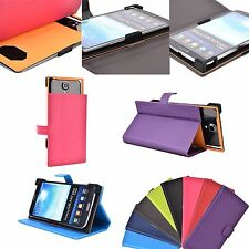 "New Smartphone 6"" Corner Protection Universal Adjustable Leather Wallet Stand"
