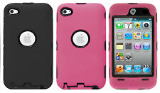 Apple iPod Touch 4 IMPACT RESISTANT Hard Rubberized Phone Case Cover Accessory