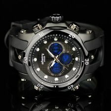INFANTRY POLICE SPORT QUARTZ CHRONOGRAPH ARMY MENS WRIST WATCH BLACK RUBBER GIFT