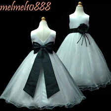 USMD59B Black/White Communion Flower Girls Dress 1,2,3,4,5,6,7,8,9,10,11,12,13