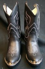 Black Cool Western Cowgirl/Cowboy Kids riding show boots Youth & kids sizes