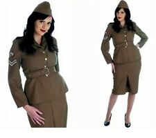 World War 2 Army Girl - Fancy Dress Costume - Halloween - New