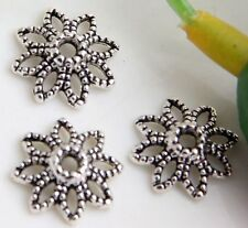 Wholesale 80/200Pcs Tibetan Silver  Bead Caps  Findings  10mm(Lead-free)