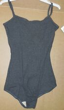 NWT Body Wrappers Classic Camisole Dk Gray Ch/Ladie szs cottonrib dance leotard