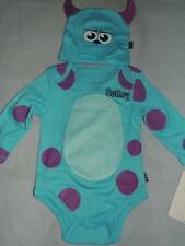 DISNEY MONSTERS UNIVERSITY SULLEY COSTUME BABY ONESIE SIZE NB 0/3 3/6 6/9 MONTHS