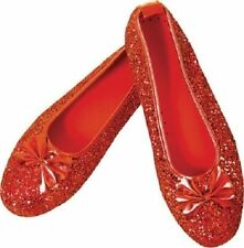 Wizard of Oz Dorothy Ruby Red Slippers Adult Flats Shoes Costume Accessory