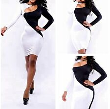 Women Sexy Bodycon Bandage Dress Long Sleeve Cocktail Party Club Wear Dress