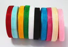 "50 Yards 3/8""10mm Beautiful Organza Ribbon Party Wedding Decoration 10 colors U"