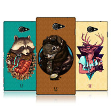 HEAD CASE ANIMALS IN FASHION SNAP-ON BACK COVER FOR SONY XPERIA M2