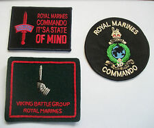 ROYAL MARINES CLOTH BADGES - IT'S A STATE OF MIND, RMC AND VIKING BATTLE GROUP