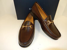 NEW COLE HAAN ASCOT II C02497 DK BROWN LEA LOAFER W/ GOLD BIT & HALF RUBBER SOLE