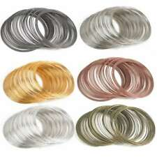 100 loops 60m Memory Steel Wire Cuff Bangle Bracelet 60mm Jewelry Making 6 Color