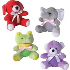 ITTY BITTIES Brightly Colored Squeaker Toys for Dogs Cute Character Dog Toy