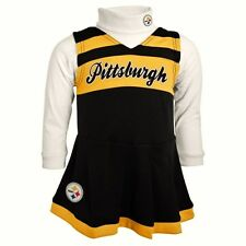 PITTSBURGH STEELERS LITTLE GIRLS 2 PIECE CHEERLEADER OUTFIT