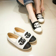 Women Fall Fashion Korean Style Channel Logo Montage hemp rope Casual Loafer