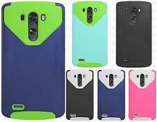 For LG G3 NEST HYBRID HARD Case Rubber Phone Cover Accessory + Screen Protector