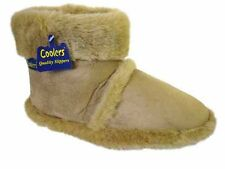 Mens Cooler Brand Snugg Microsuede Boot Slipper Thick Fluffy Collar & Lining 358