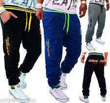 ZAHIDA Mens Tracksuit Bottoms Joggers Trackies Bodybuilding Fitness Trousers New