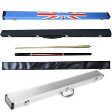 "57"" Ash Wood 1/2 Joint English Snooker Cue 2 Piece Jointed American Pool Case"