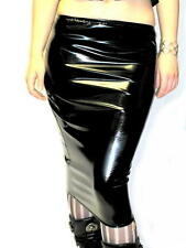 BN CUSTOM MADE TO ORDER PVC HOBBLE/WIGGLE SKIRT XS-XXL BLACK GOTHIC/GOTH/FETISH