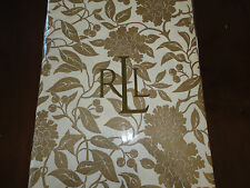 New Ralph Lauren Pineview Cream Gold Floral Tablecloth