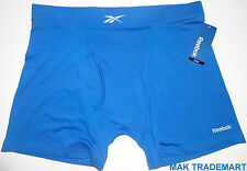 NEW REEBOK MEN'S PERFORMANCE SHINY NYLON BOXER BRIEF BLUE
