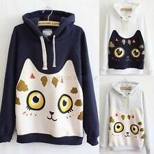 Women Korean Cat Thicken Hoodie Sweater Leisure Sport Sweatshirts Coat Pullover