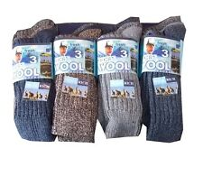 6PAIRS MENS THERMAL SOCKS WALKING WINTER WARM THICK RICH WOOL HIKE SPORTS BOOT