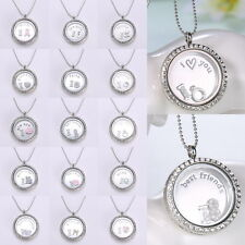 30MM Living Locket Authentic Round Clear Pure Face Floating Rhinestone Crystals