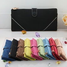 Women Handy Classical PU Leather Zip Clutch Purse Lady Long Handbag Wallet