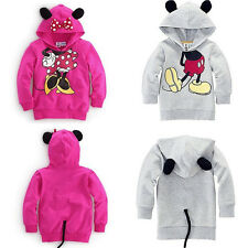 Baby Girls Boys Kid Cartoon Mickey Minnie Design Hoodies Sweatshirt Clothes 1-6Y