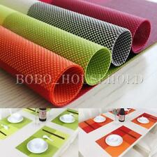 Rectangle PVC Woven Resturant Placemat Table Mat Pad Heat Insulation Decoration