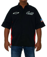Chevy Camaro Pit Crew Shirt Mens Authentic Button Down Shirt Black