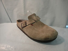 Birkenstock Taupe Brown Suede Boston Clogs Women's Sizes 5 or 6