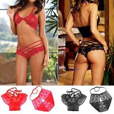 Hot Lace Sexy Wild Women's Lingere Underwear Bra +G-String Nightwear White Red