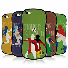 HEAD CASE FOOTBALL rivalità Hybrid TPU Case Cover per Apple iPhone 5S