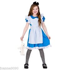 GIRLS STORYBOOK ALICE IN WONDERLAND FAIRY TALE BOOK WEEK FANCY DRESS COSTUME