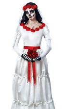 Womens Day of the Dead Bride Skeleton Halloween Costume