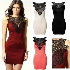 NEW Sexy Evening Dress Bodycon w/ Fabric Embroidery Red Black Ivory - USA