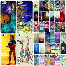 Flower Animal Scenery Painted Pattern Case Cover For Apple iPhone 4 4S 5 5S 5C