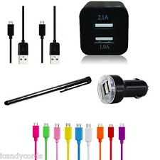 2.1A Rapid Fast Dual Output Micro USB Car Charger For LG Nexus Cell Phone Stylus