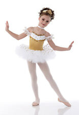 Christmas Gold Ballet Tutu Dance Costume DREAMS Tiara & Neckpiece Child & Adult