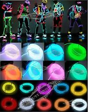New Flexible Neon Light Glow EL LED Wire Rope Car Cable Strip Party + Controller