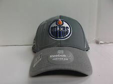 Edmonton Oilers Reebok Cap Authentic Center Ice Stretch Flex Fit Fitted Hat