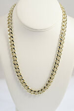 Gold Overlay 9.5mm Cuban/Curb Link Chain Necklace or Bracelet -Lifetime Warranty
