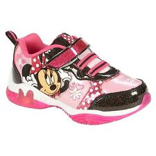 MINNIE MOUSE DISNEY Light-Up Sneakers Athletic Shoes NWT NIB Toddlers 6-10  $35