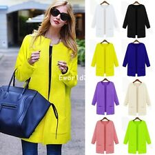 New Womens Ladies Uk Size Warm No-Hoodie Slim Long Sleeve Winter Outerwear Coat