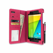 roocase Dual Station Folio Case Cover for Google Nexus 7 FHD with Stylus (2nd Ge
